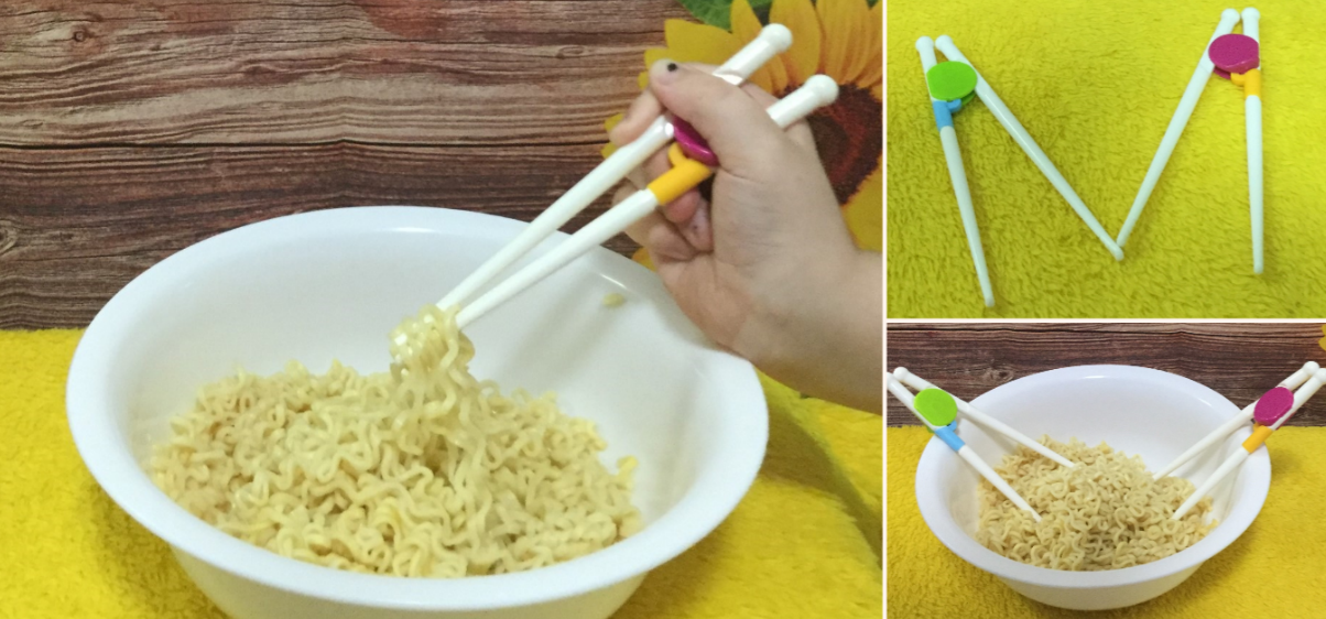 teaches how to use chopsticks properly