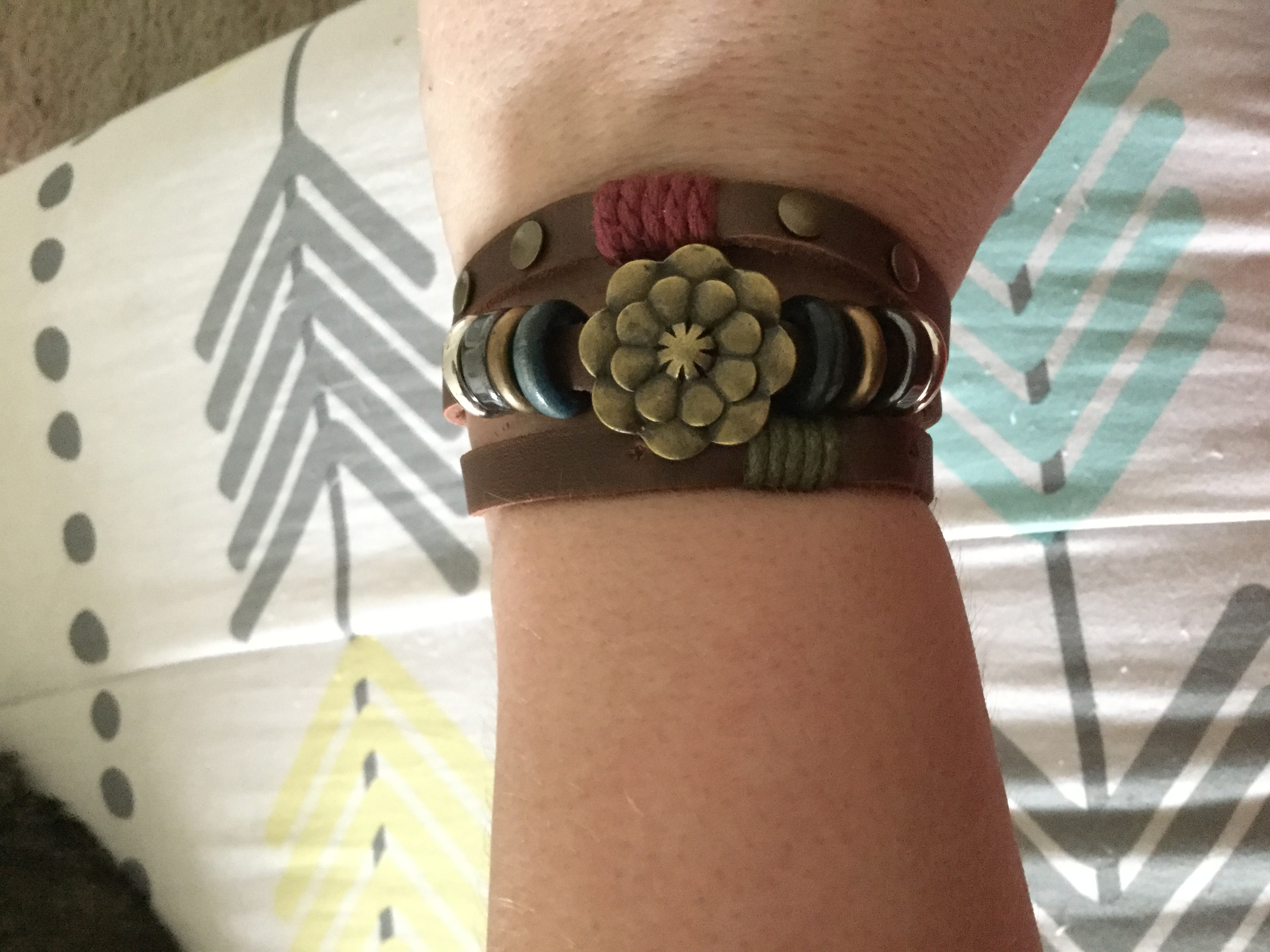 Pretty leather bracelet