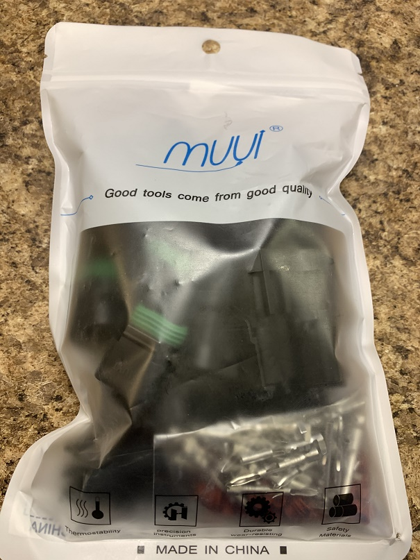2-pin waterproof electrical connector pairs MUYI