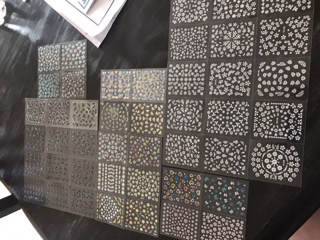 Nail stickers galore