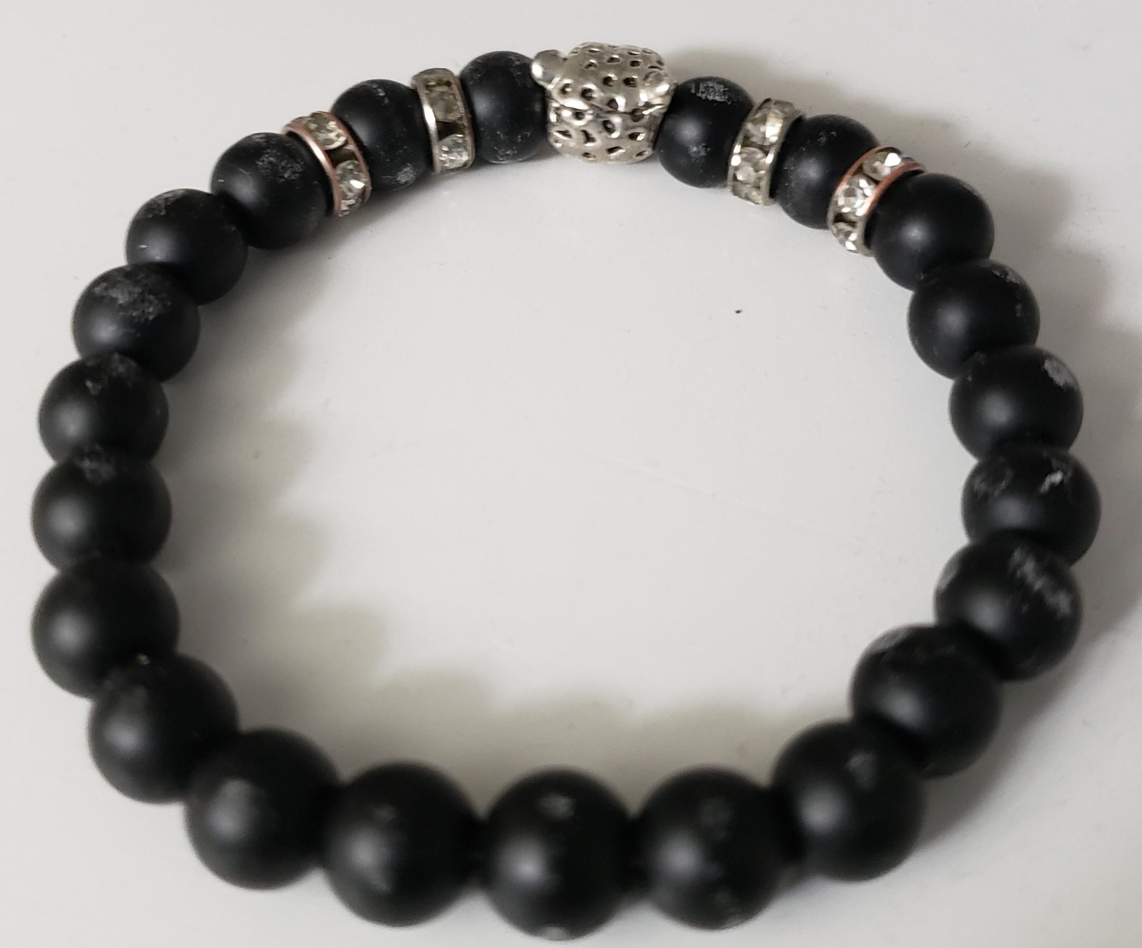 Black matte tiger bracelet