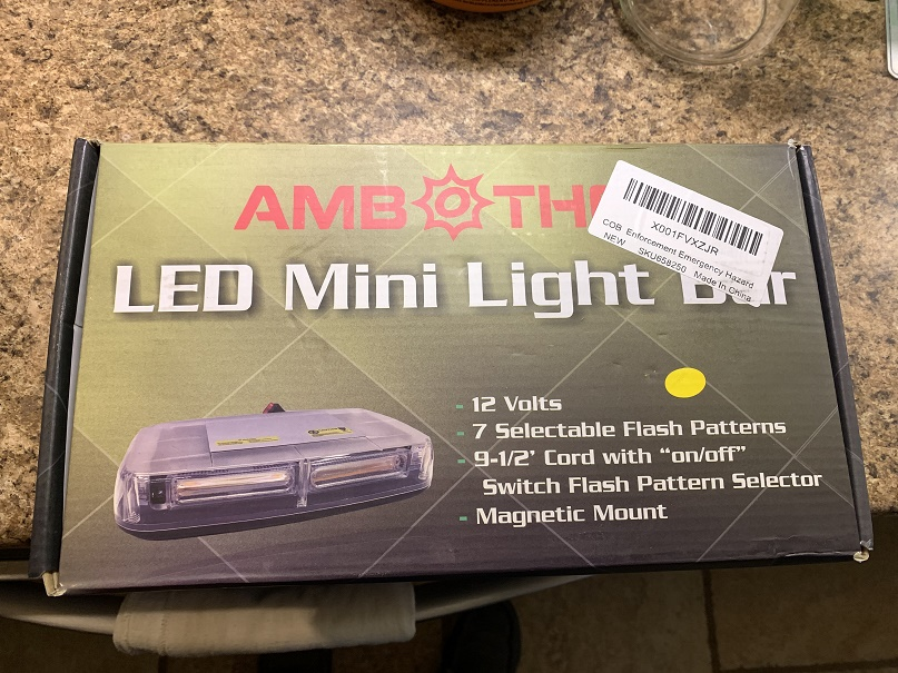 Amber Magnetic Emergency Lighting