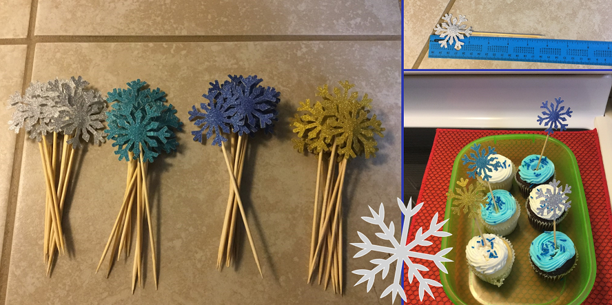 sparkly cupcake toppers