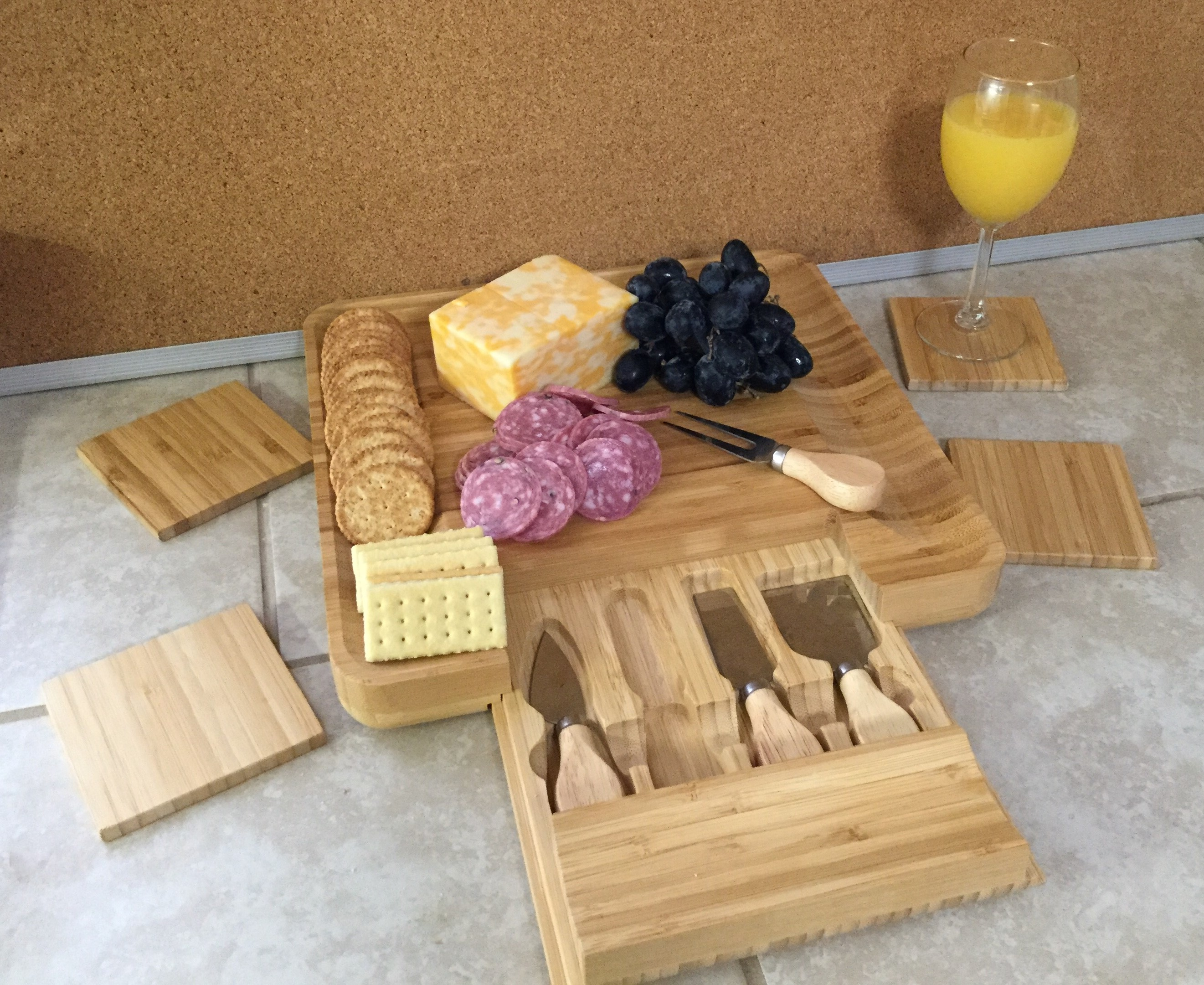 This cheese board set is beautiful