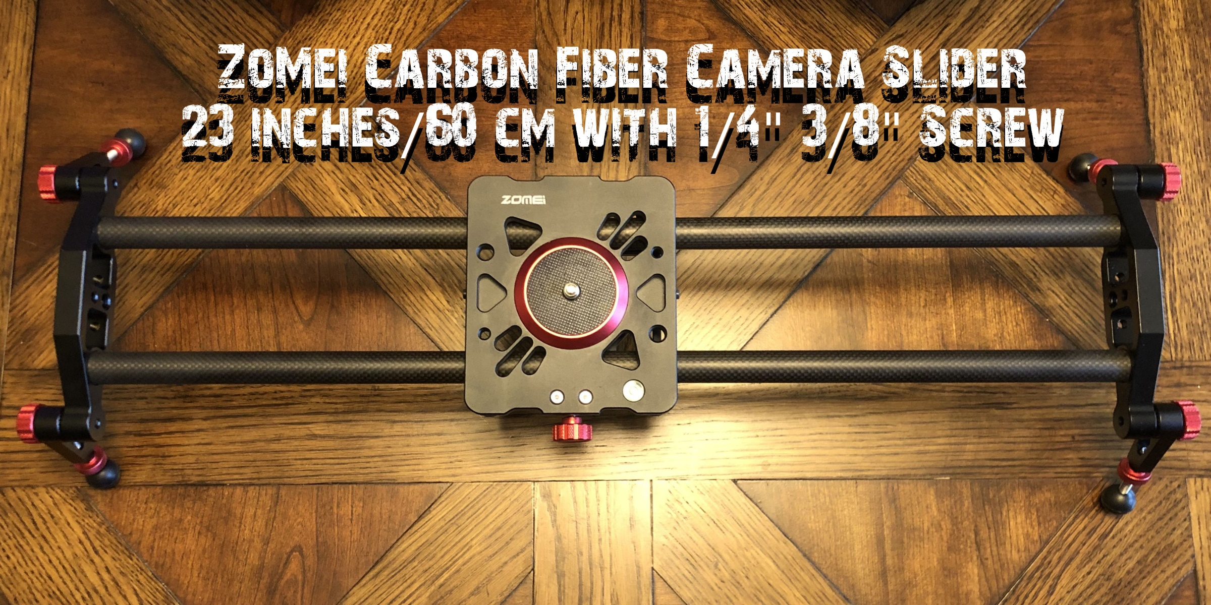 Super Smooth 23 Inch Carbon Fiber Camera Slider by ZoMei - DISCONTINUED