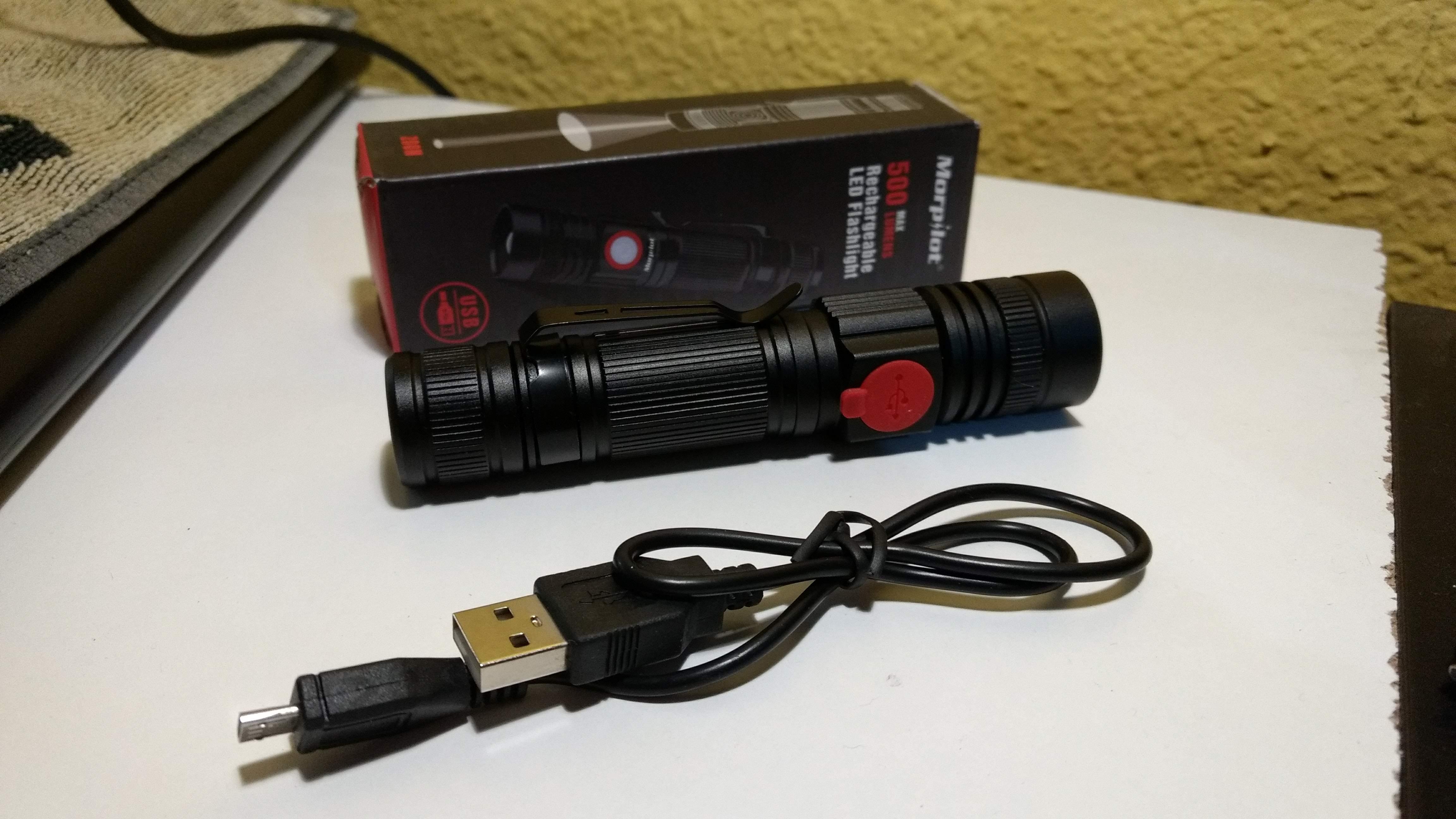 LINTERNA USB MORPILOT - 5 MODOS DE LUZ