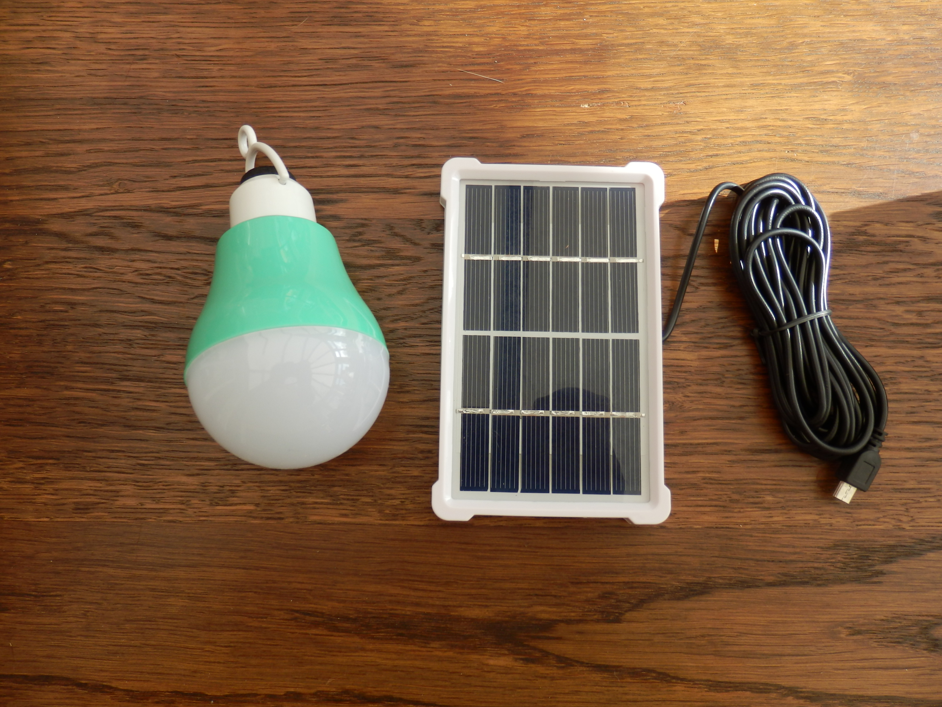 Rechargeable Portable LED Light Bulb Powered by a Solar Panel by BFCY