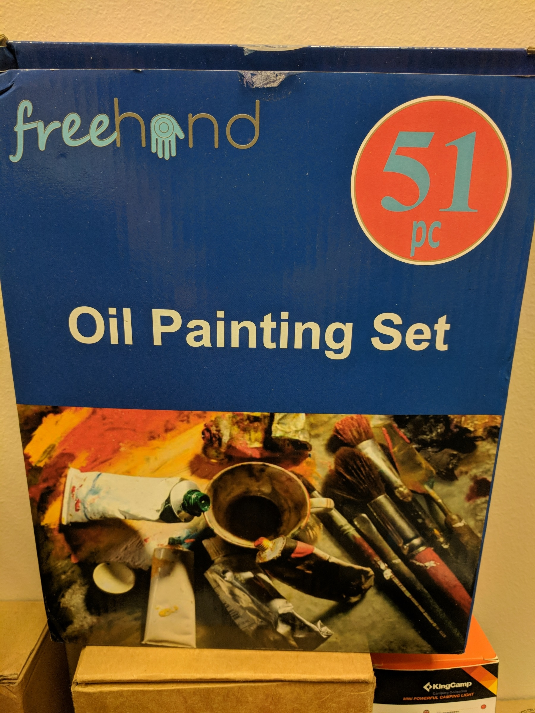 front page oil painting set