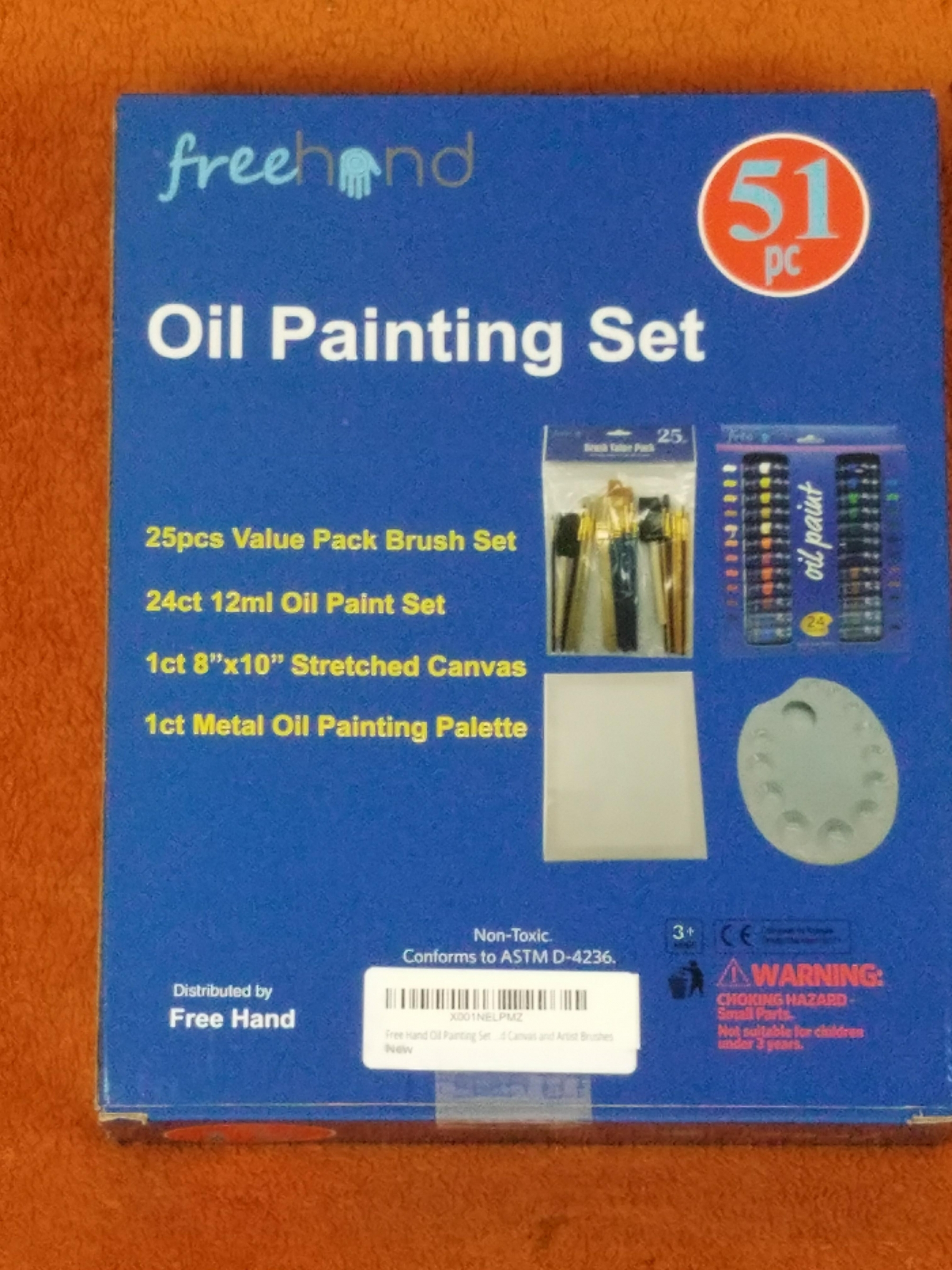 oil painting set by free hand