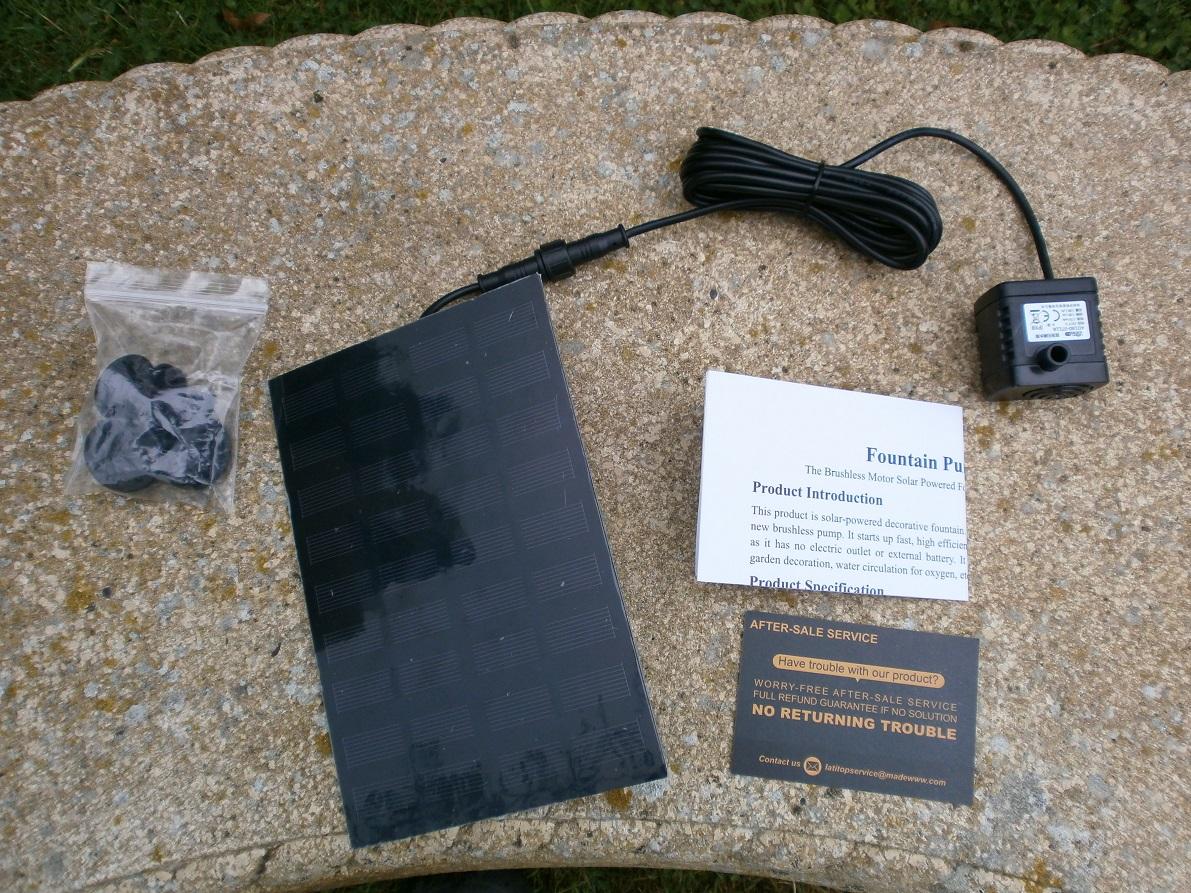 LATITOP 1.8W Solar Water Pump kit