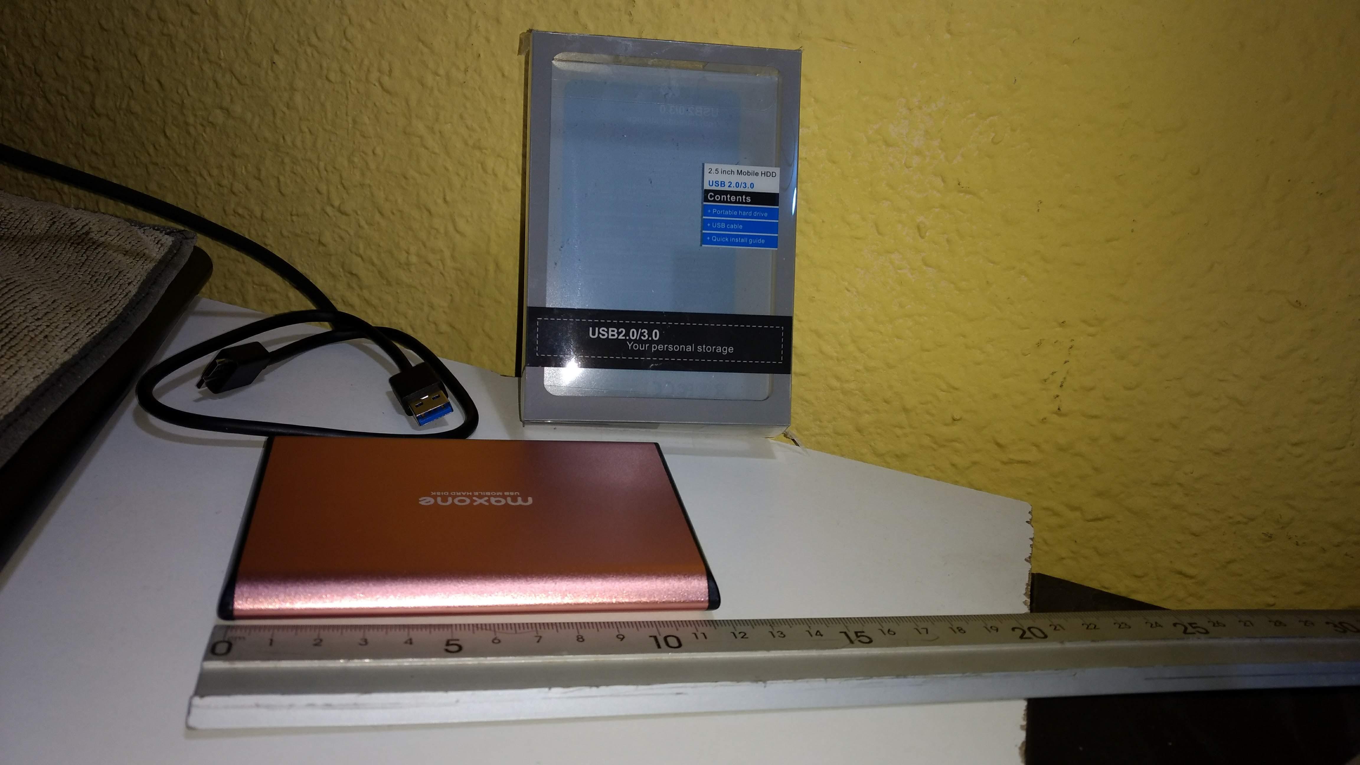 Disco duro externo Portátil 250GB MAXONE