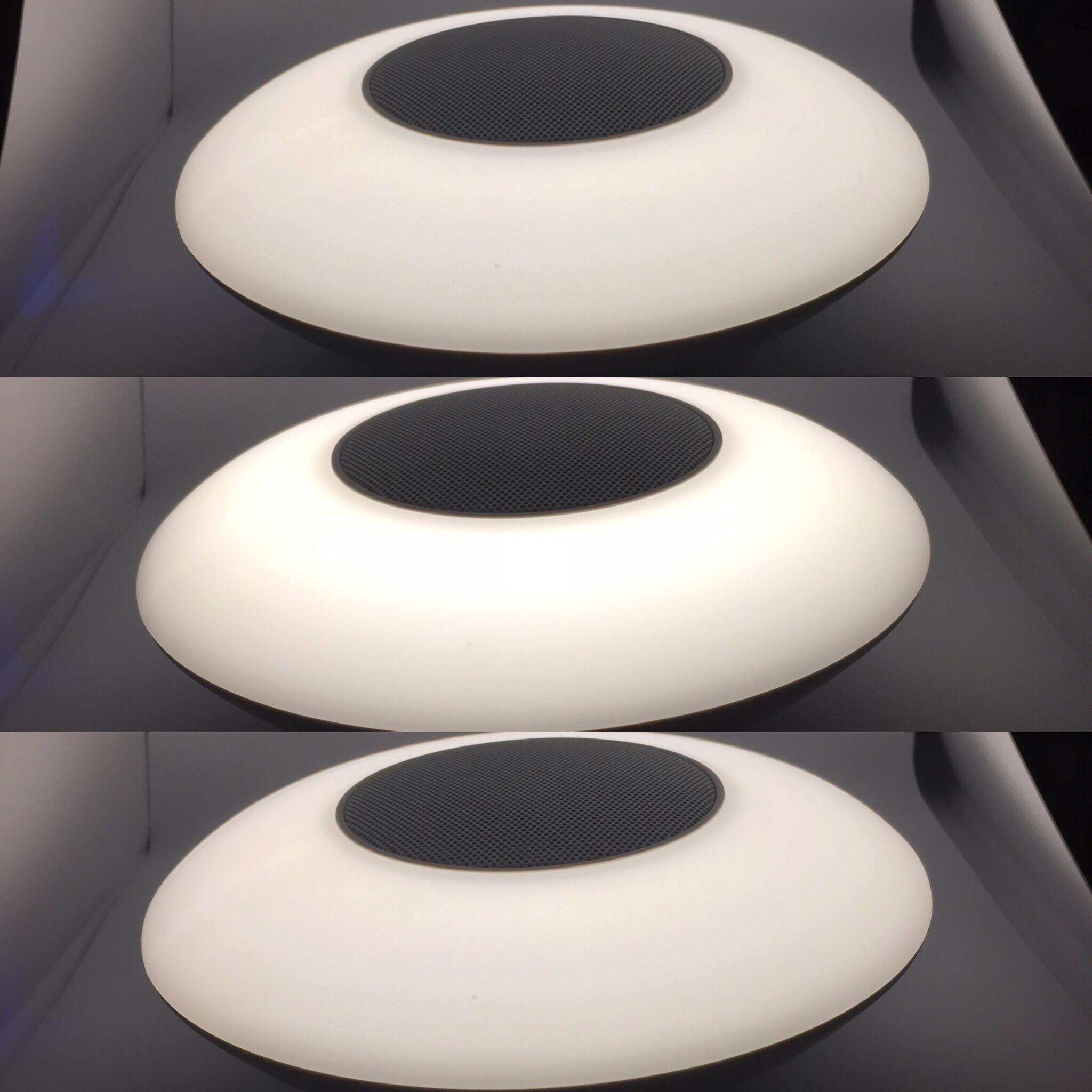 White light intensity in the dark