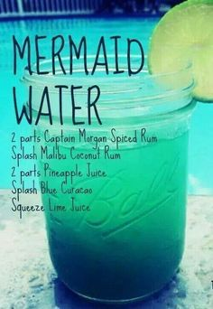 Bring on the sea, sun, and a cup of Mermaid Water!