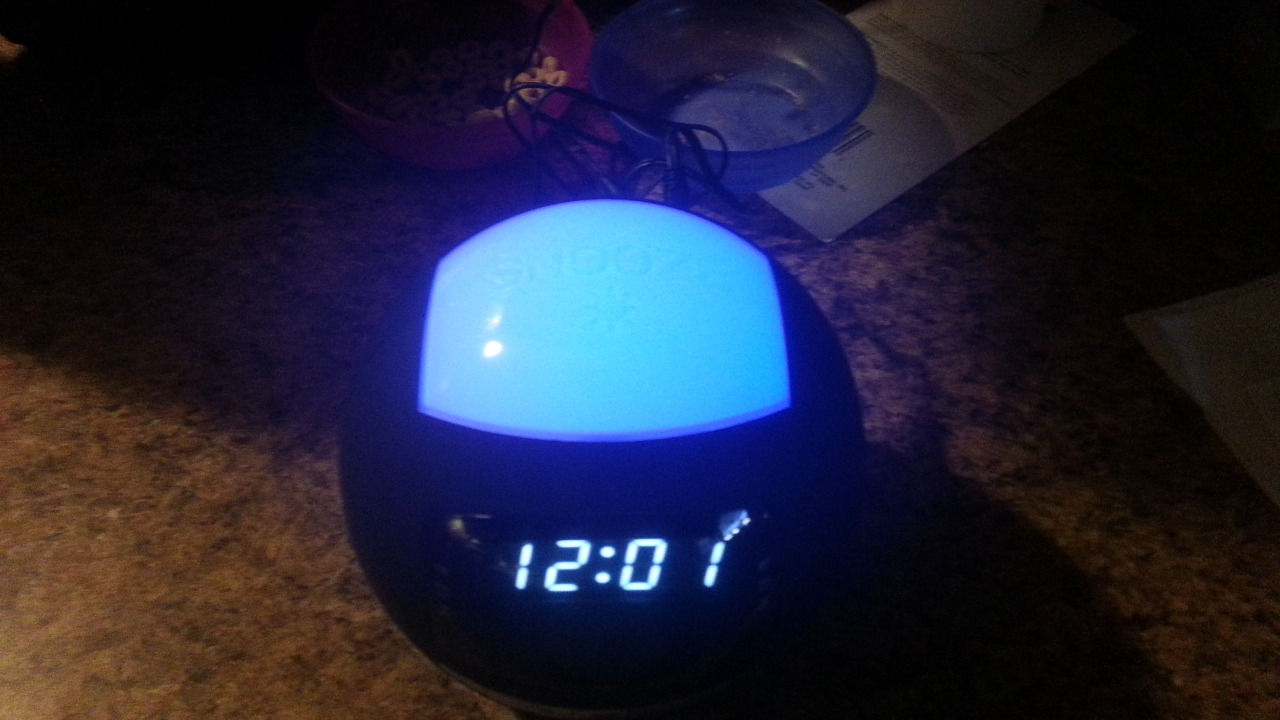 My new bedside clock radio, I love it!