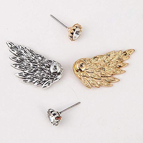 Cute Gothic Angel Wing Stud Earrings