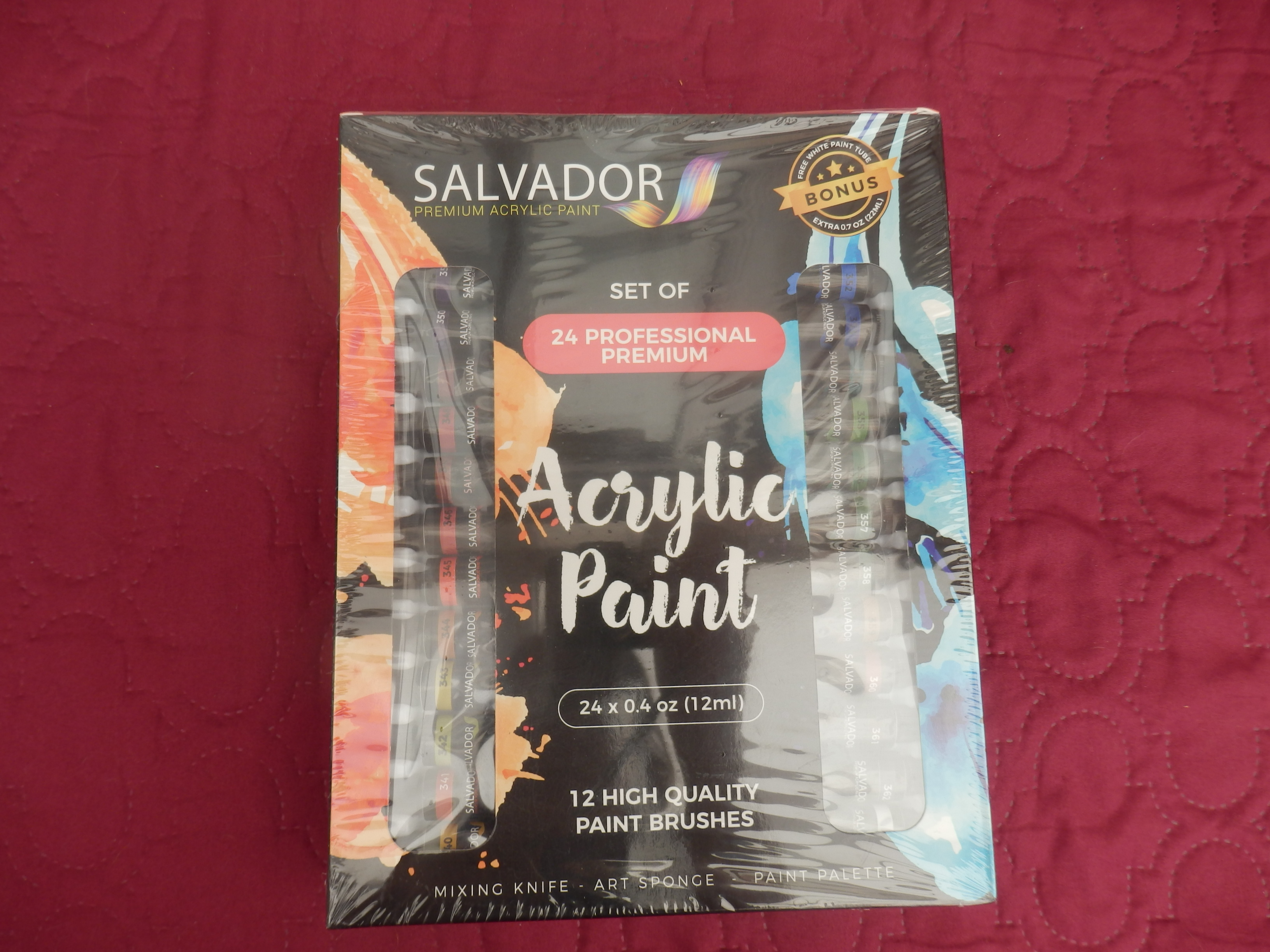 Salvador Professional Acrylic 40 Pieces Paint Set