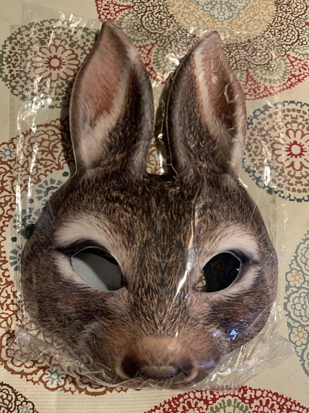 Easter Bunny 1/2 Face Adult Mask