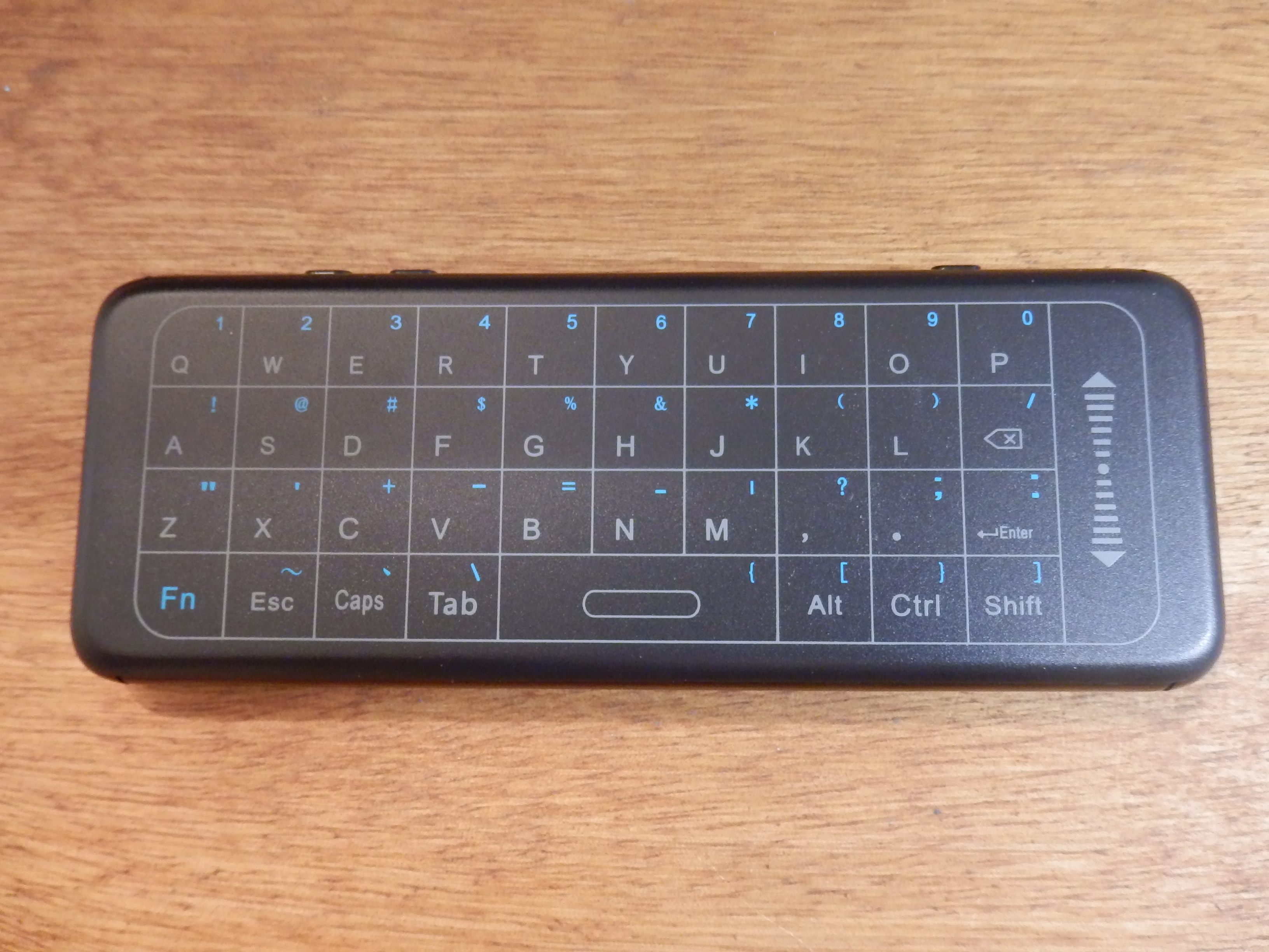 DMYCO Mini Wireless Keyboard and Touchpad with IR Remote Control, USB Rechargeable