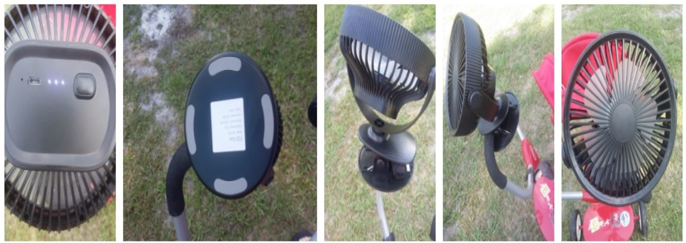 Portable, rechargable fan