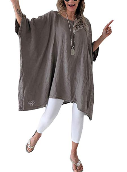 Women's Linen Blouse Tunic Tops