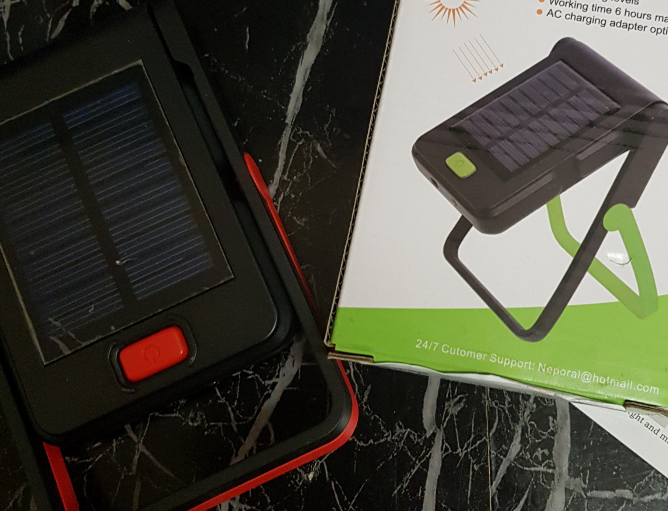 Solar portable led work light
