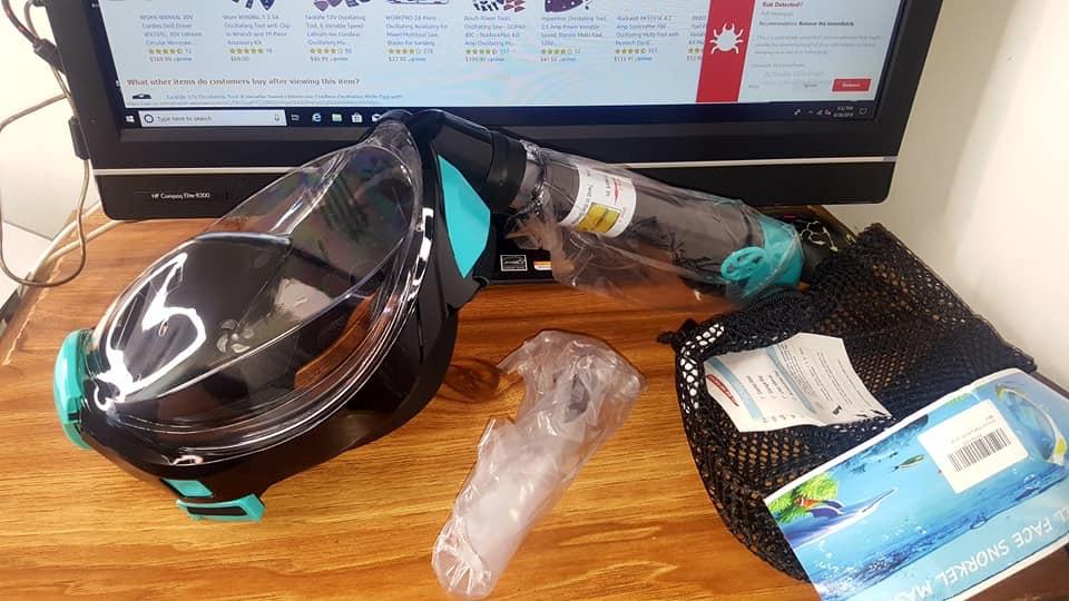 Scuba mask snorkel