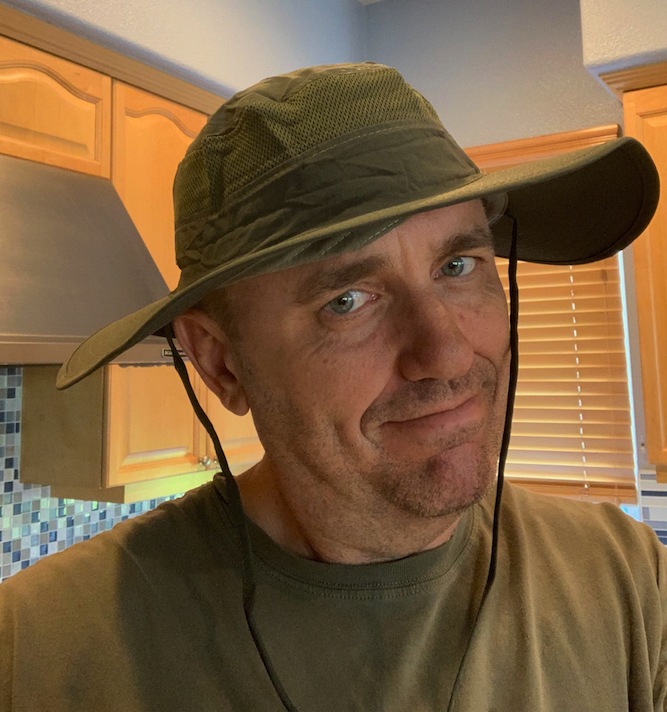 It even matches my shirt!  I love this Bucket Mesh Boonie Hat...