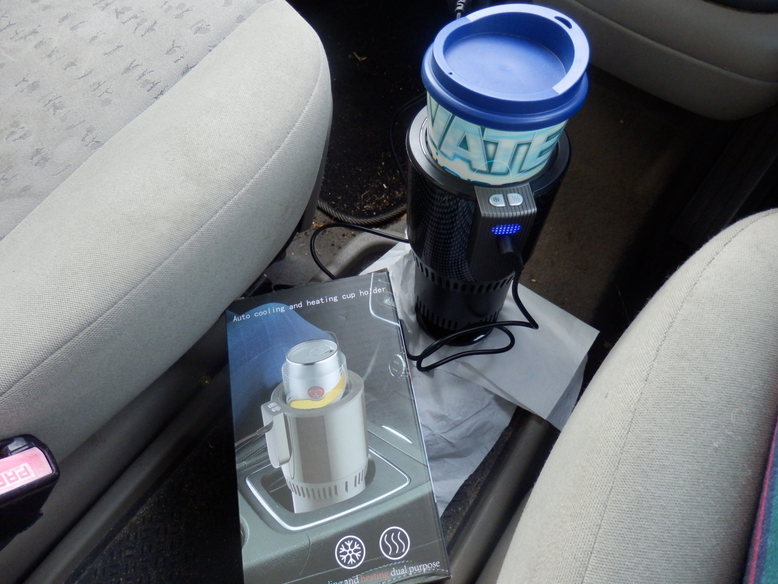 Ranipobo 2-in-1 Warming & Cooling Car Cup Holder