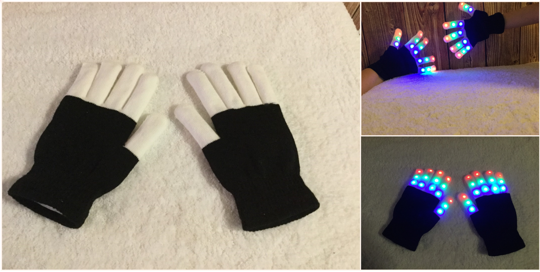 gloves with light up fingers
