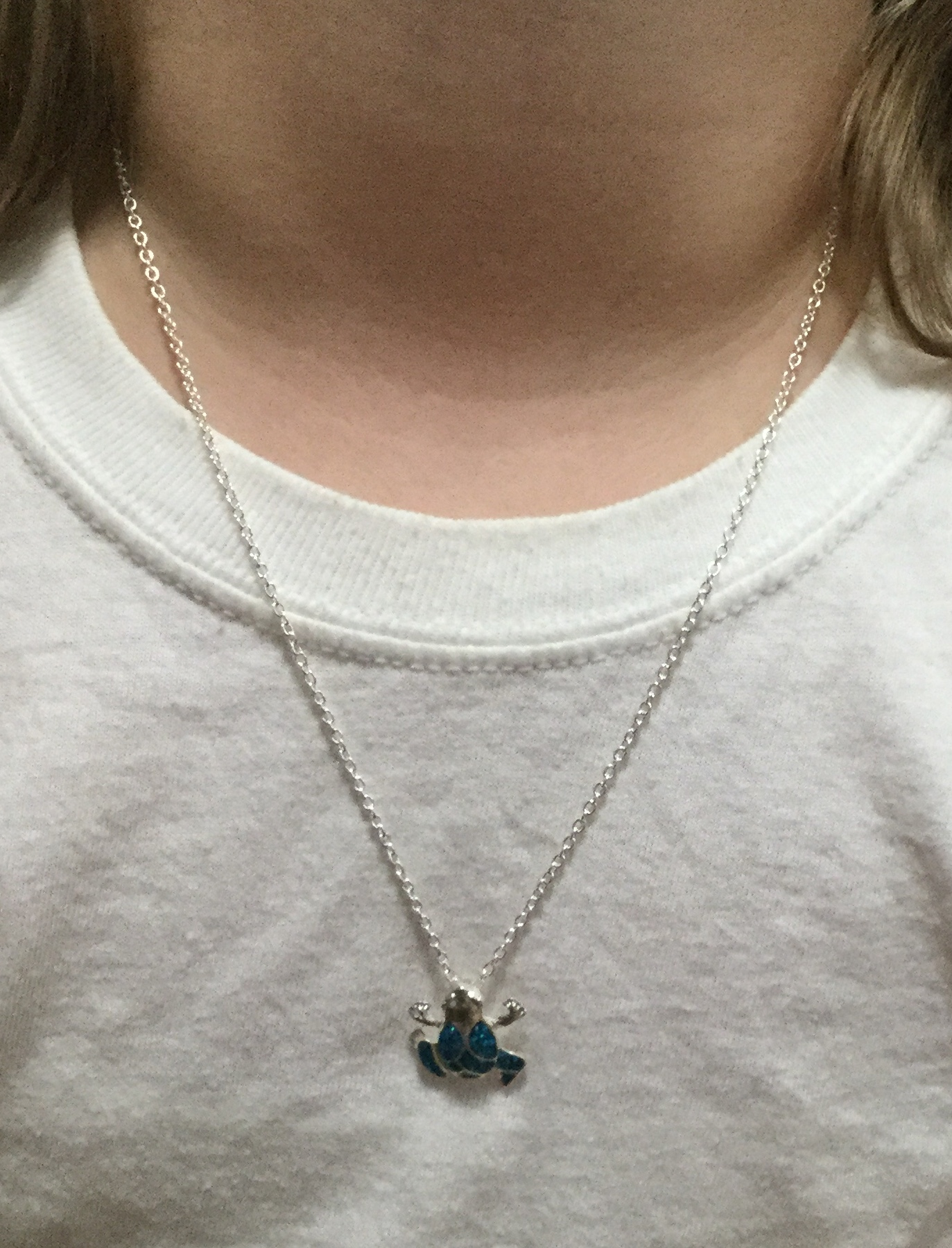 beautiful frog necklace