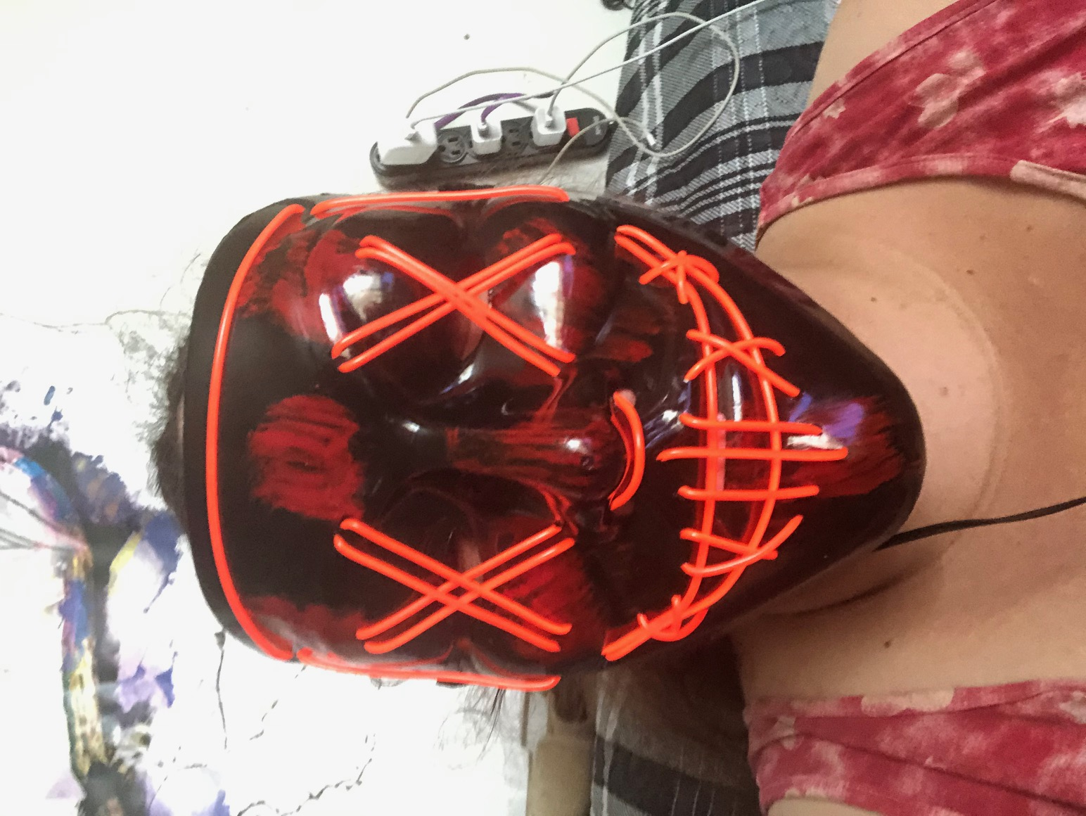 Great light up Purge Mask