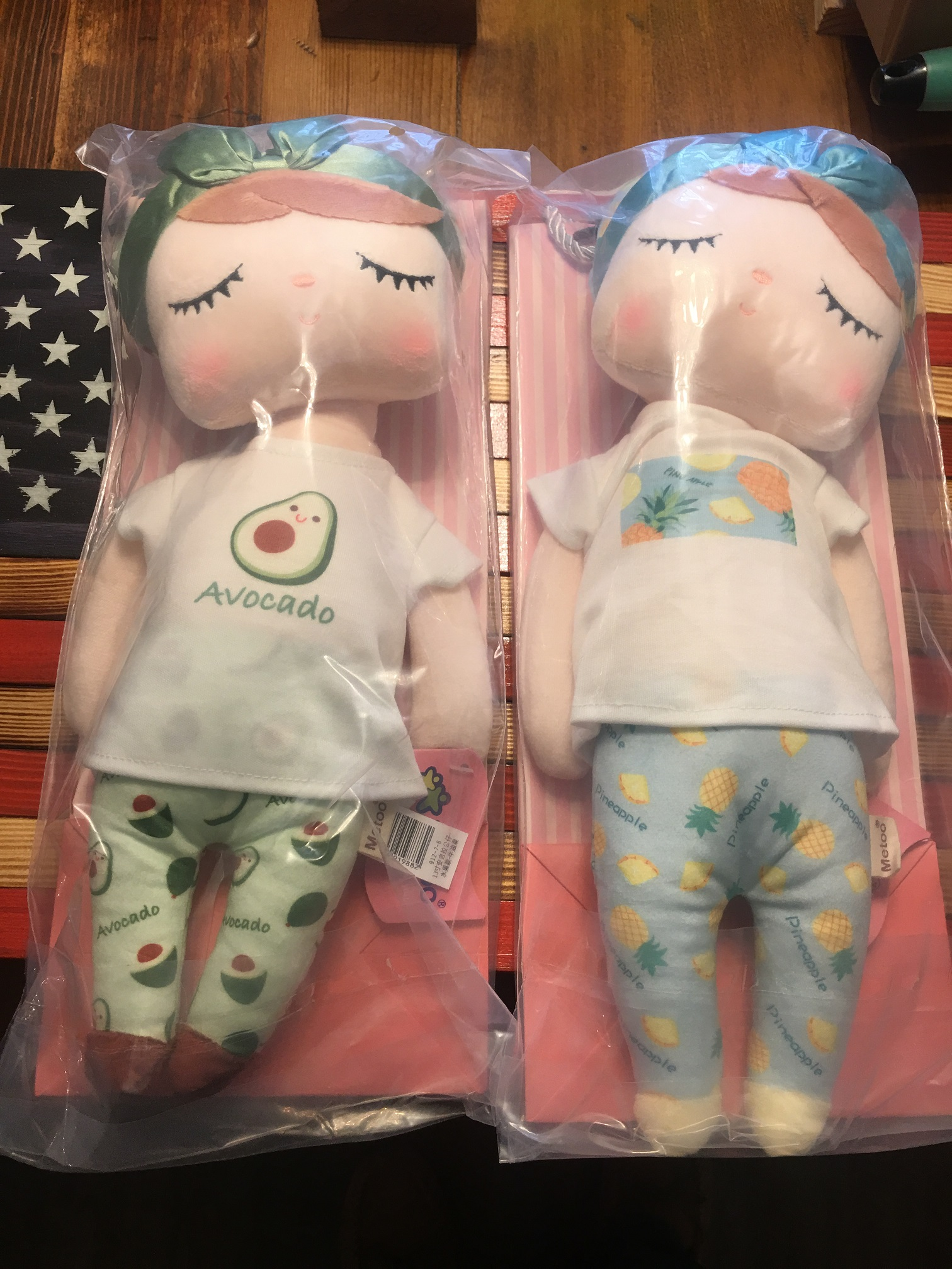 Stuffed plush baby dolls for the granddaughters
