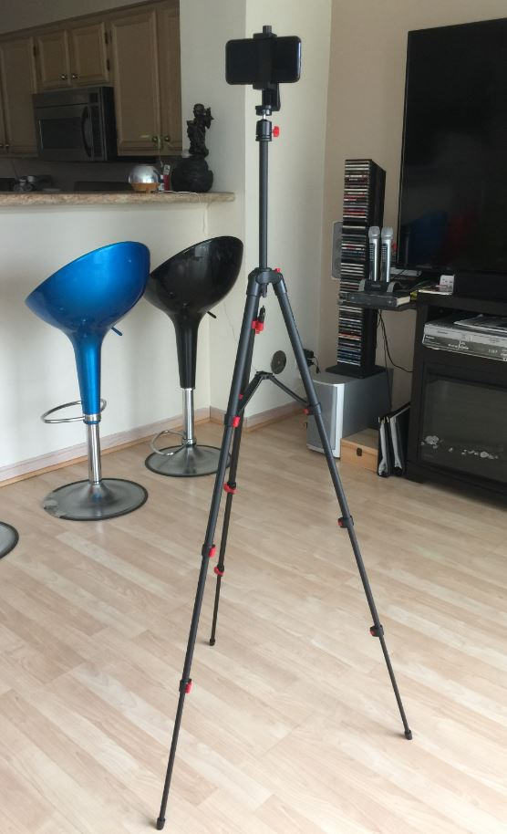 Long, light and stable travel tripod