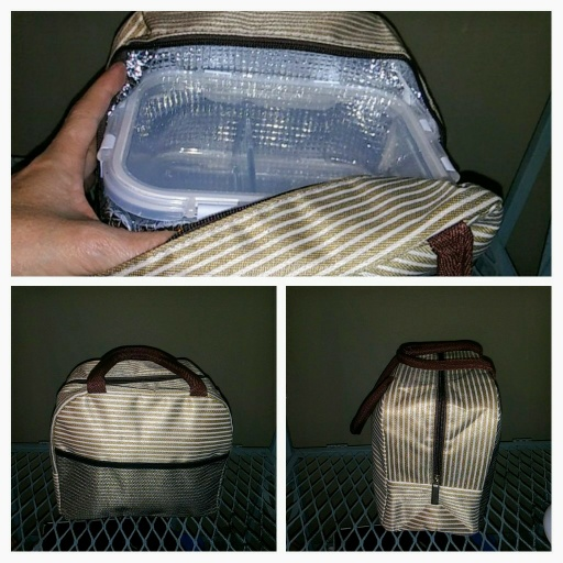 Well structured very nice looking lunch tote