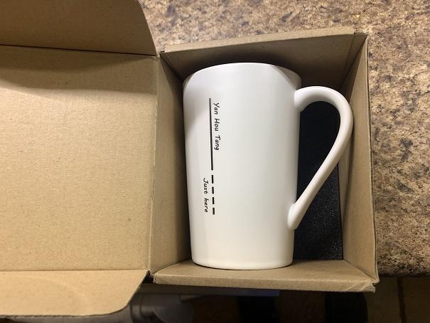 14 Ounce Ceramic Hoot/Cold Coffee and Tea Mug