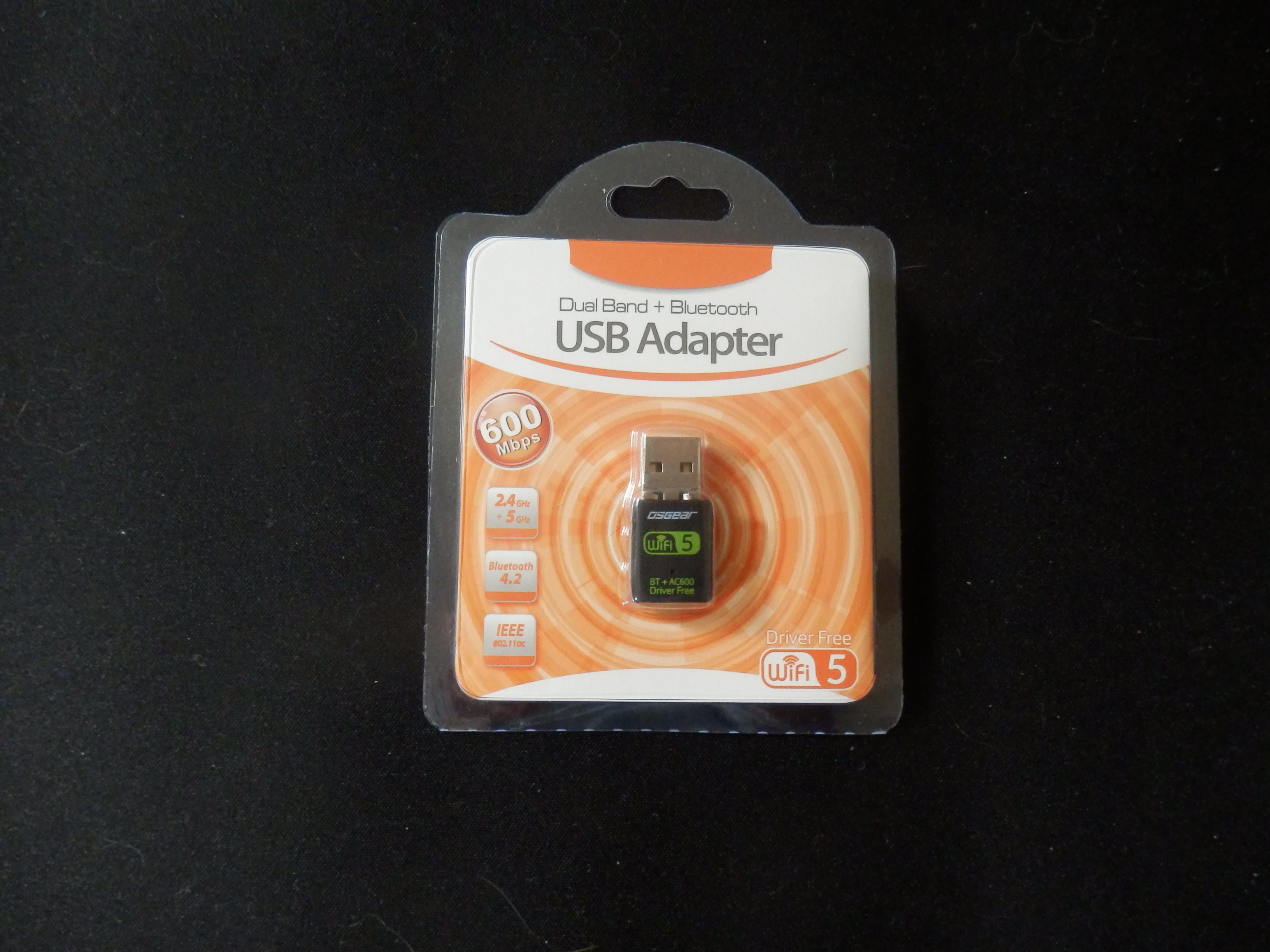 OSGEAR USB Wi-Fi Bluetooth 4.0 Dongle Adapter