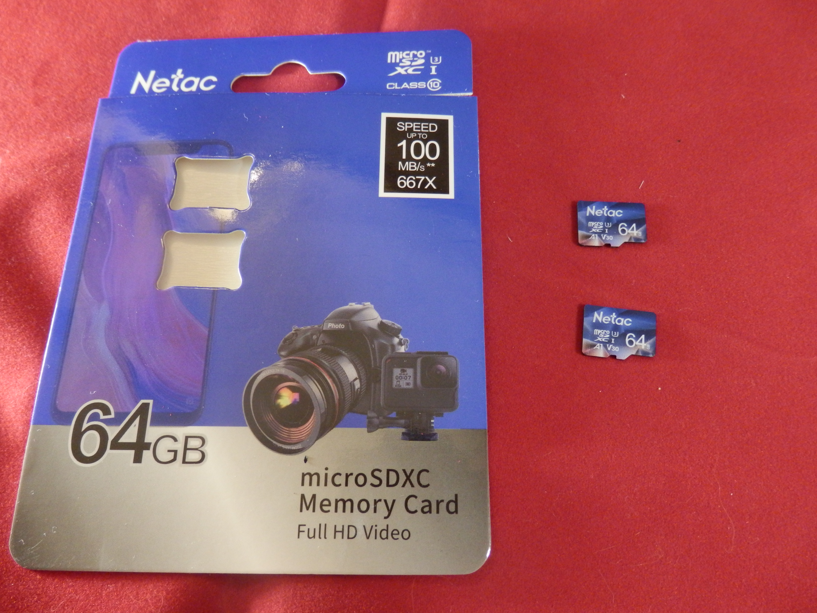 Netac 64GB Micro SD Memory Card, 2 Pack