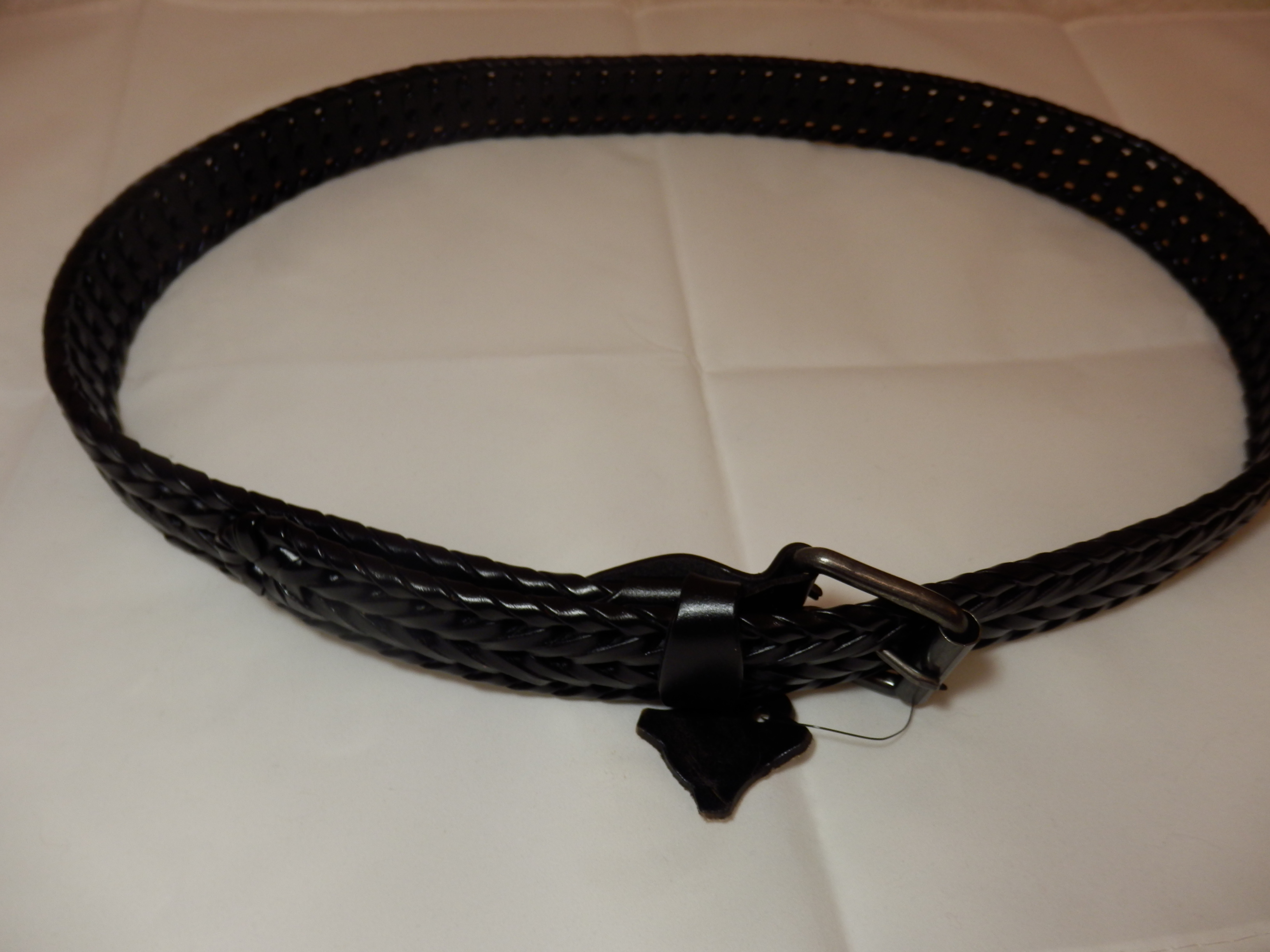 Men's Leather Braided Belt by JasGood