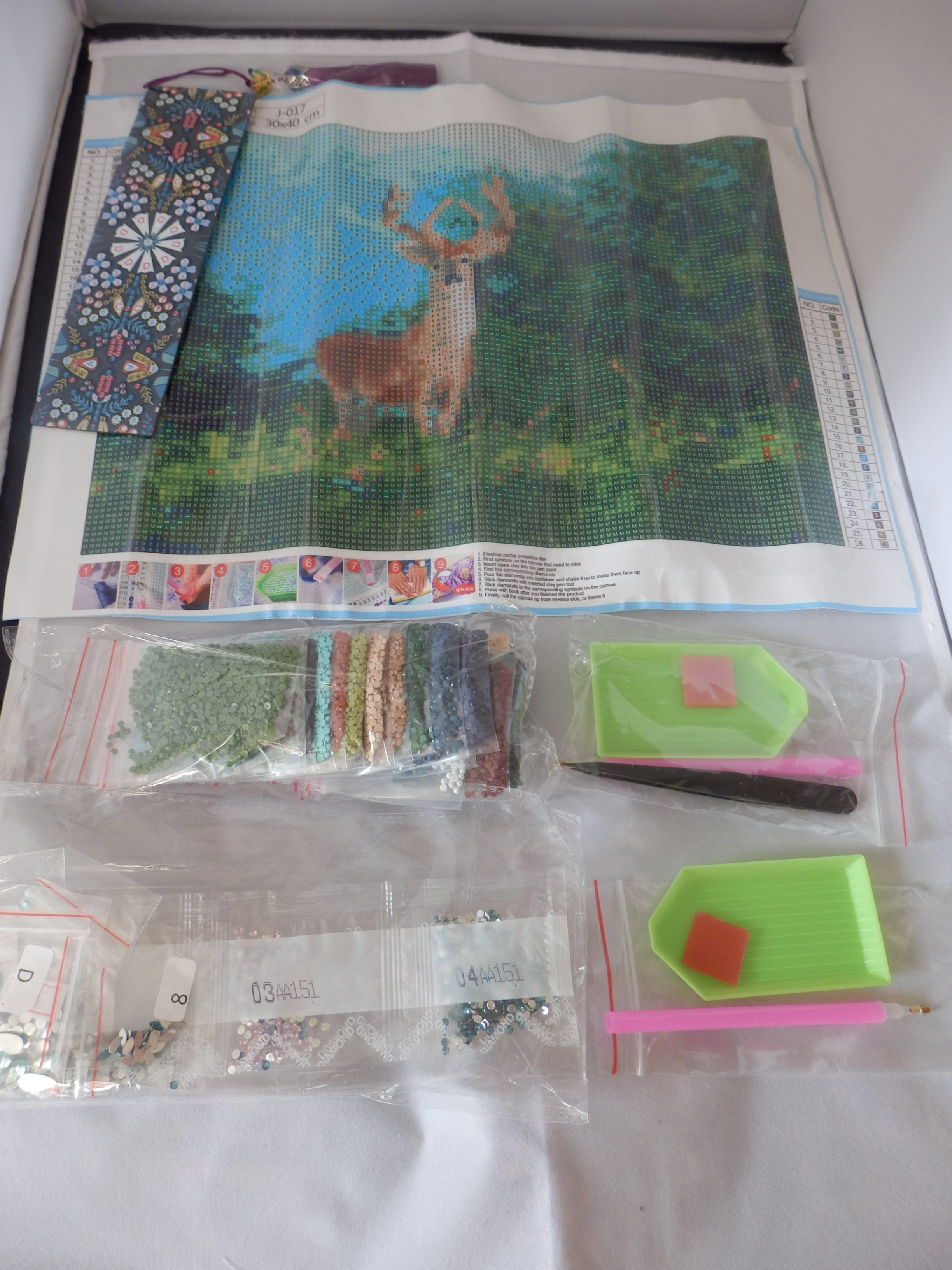 Kenting 5D Diamond Painting kit with Bookmark