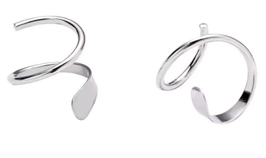 Ear Climber 925 Sterling Silver Earrings
