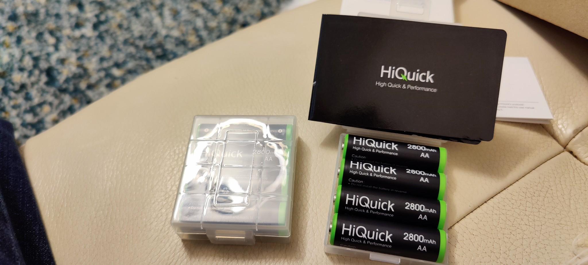 HiQuick 8 x AA Batteries, Rechargeable 2800mAh