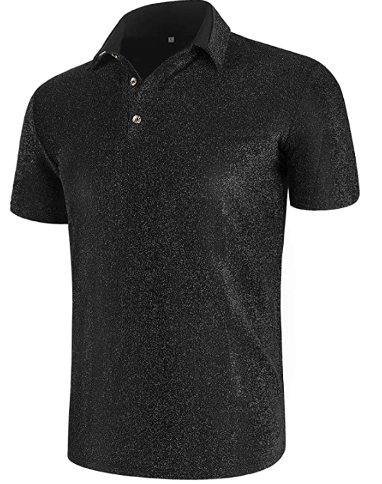 Shiny Sequins Polo Shirt