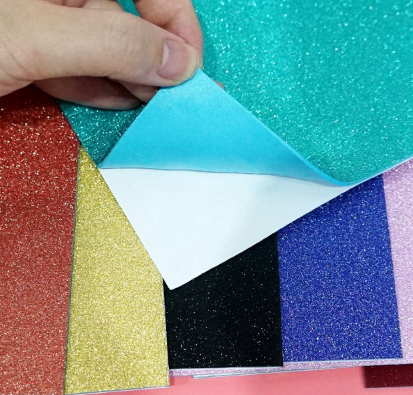 Foam Sheet Sparkles Self Adhesive Sticky