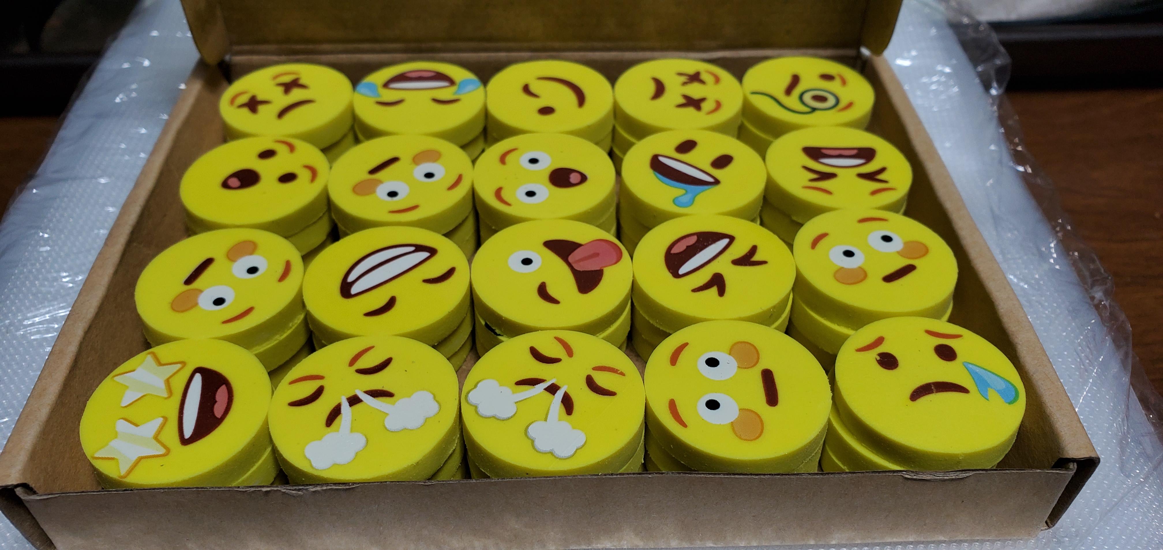 60pc emoji erasers