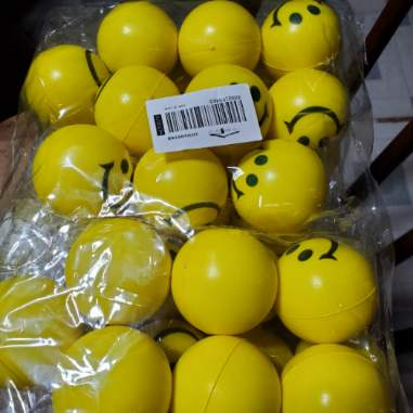 Yellow Smiley Face Stress Balls