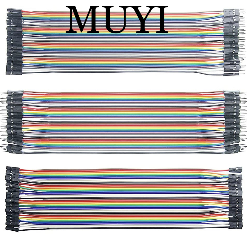 MUYI 120pcs Dupont Jumper Wires Leads Breadboard Dupont Wire