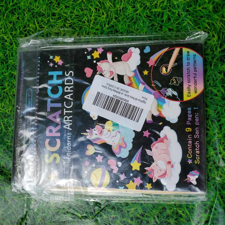 Unicorn Scratch Art Paper and Blank Scratch Art Paper Kit