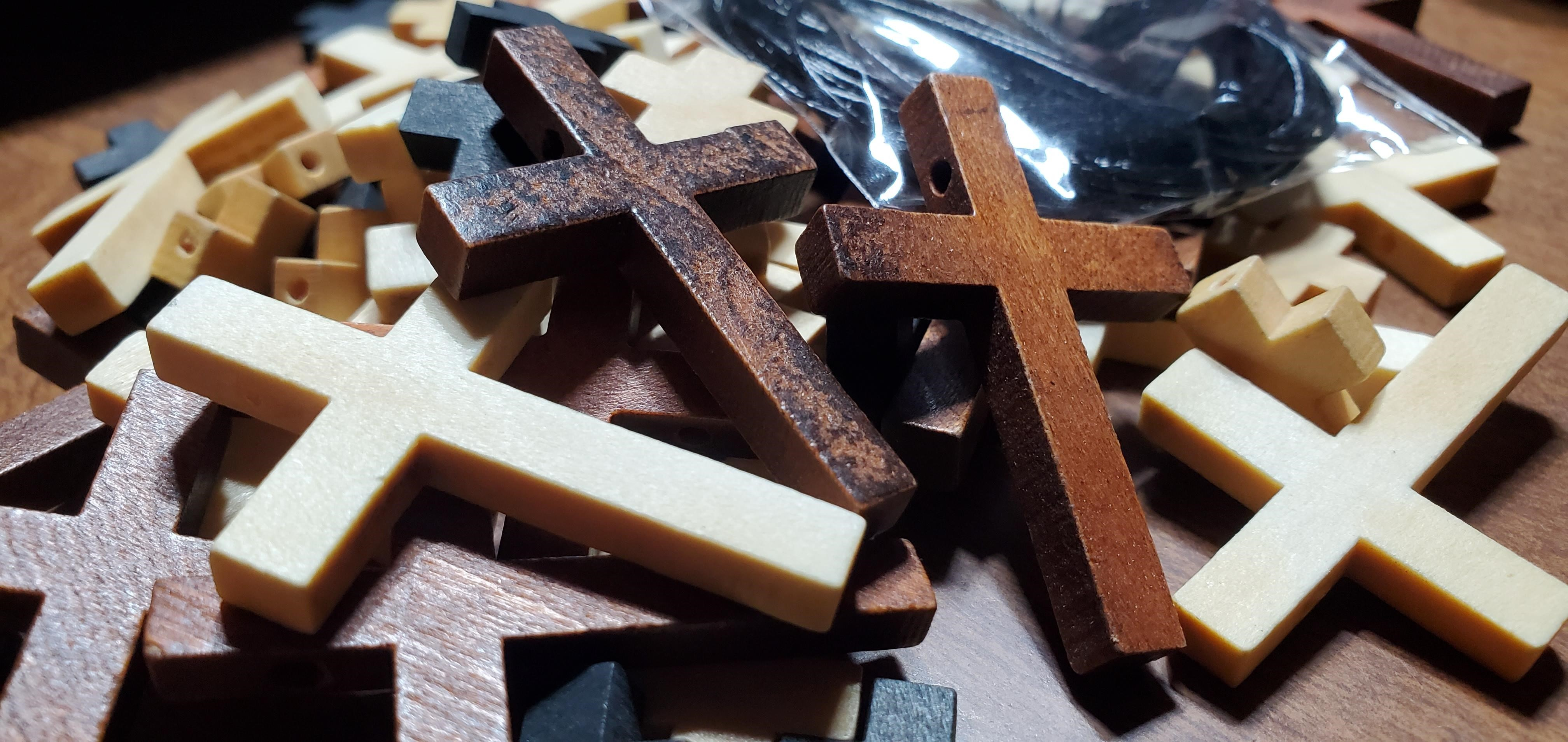 Wooden Cross Charms