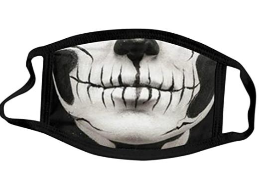 Adult Halloween Print Face-Mask