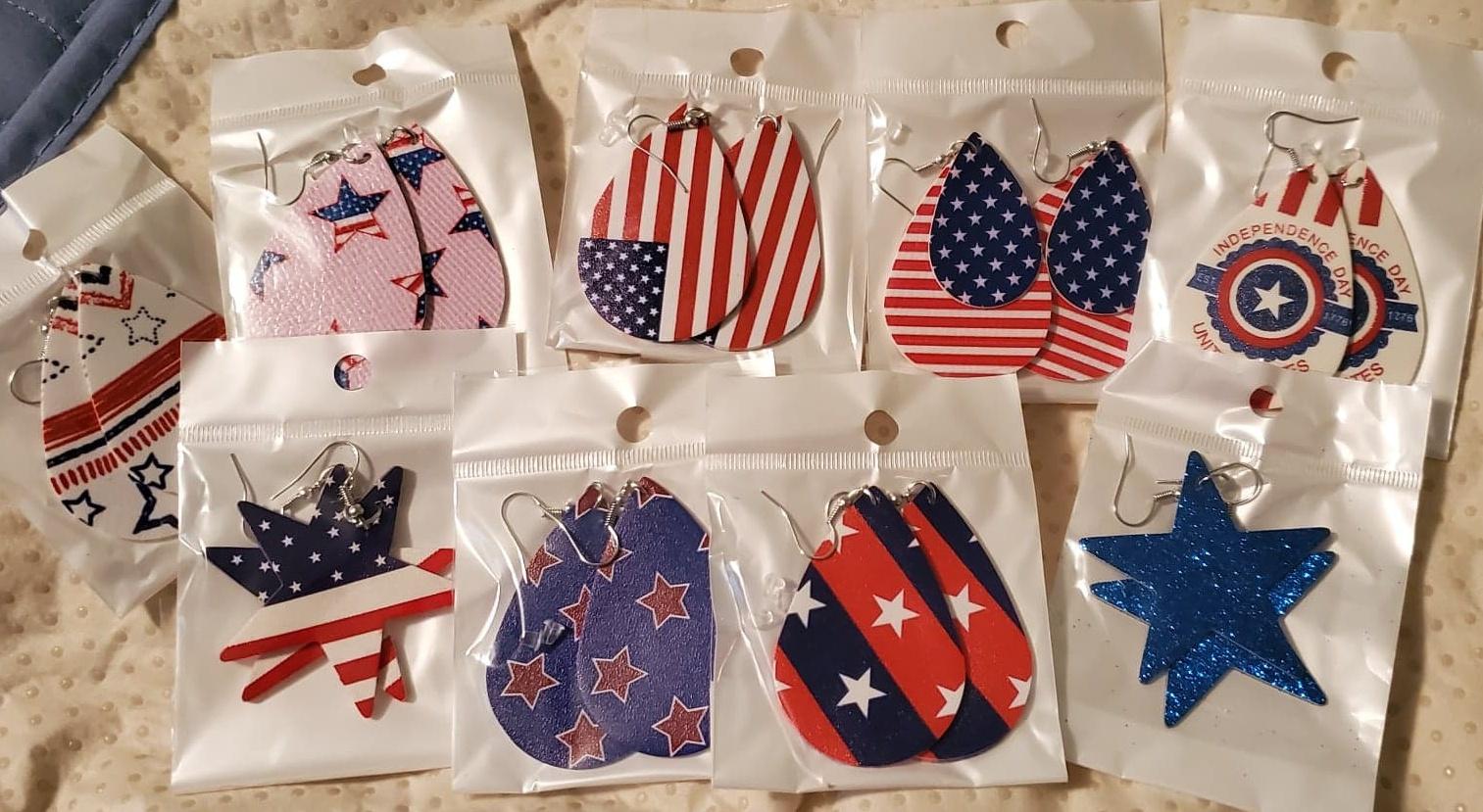 LOVE...LOVE...LOVE these Patriotic Earrings!!